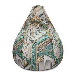 Fishing for Escher | Bean Bag Chair Cover