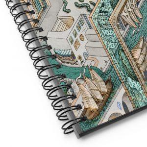 Fishing for Escher | Spiral notebook