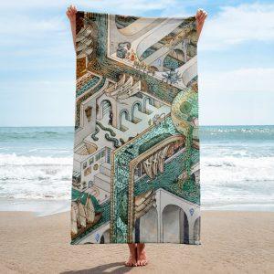 Fishing for Escher | Towel